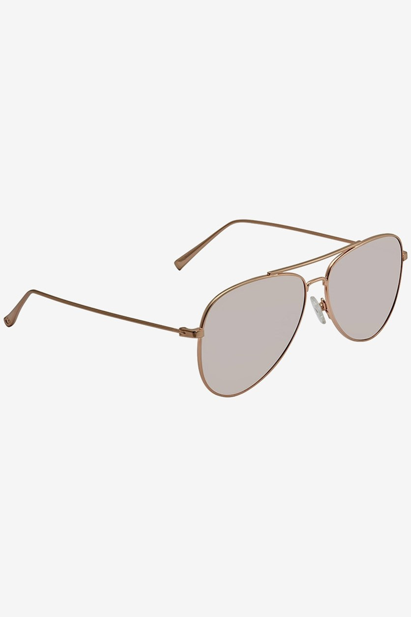 Women's Aviator Sunglasses, Rose Gold/Silver