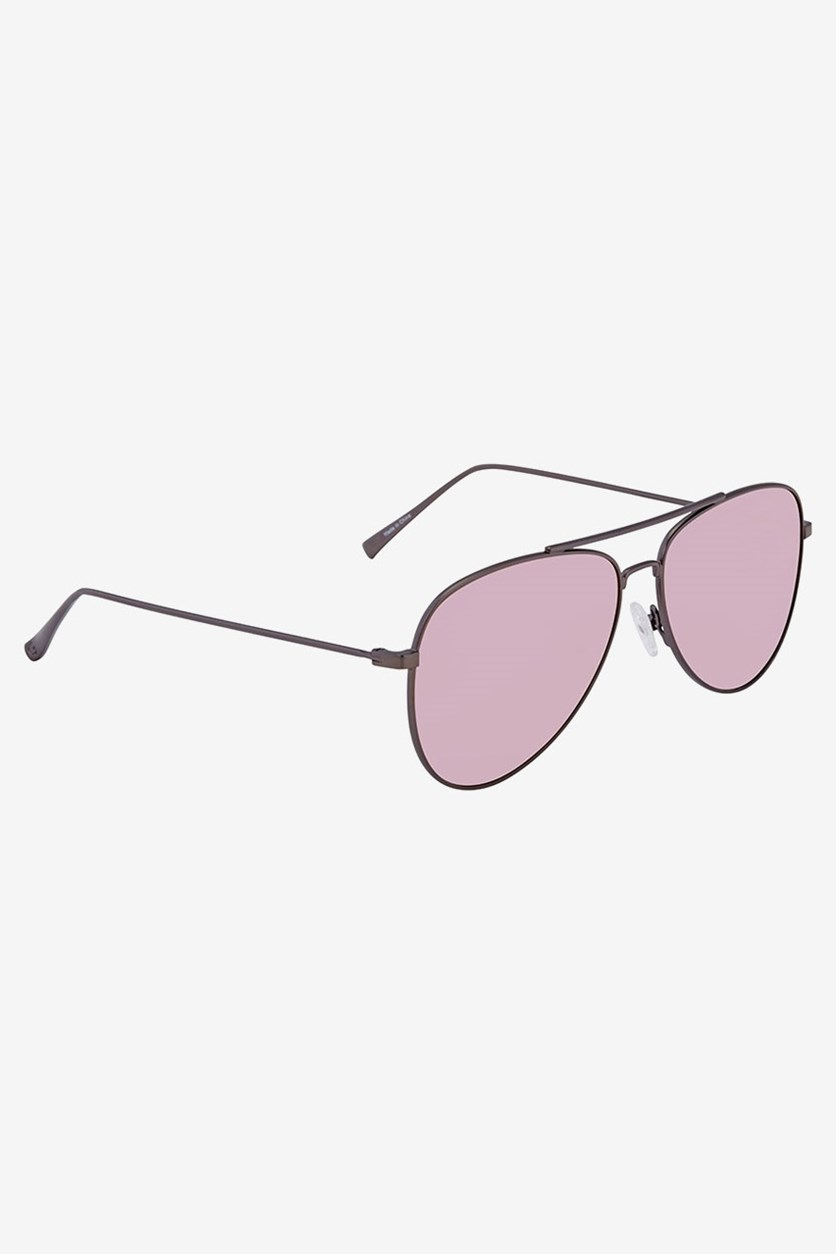 Women's Aviator Sunglasses, Gunmetal/Pink