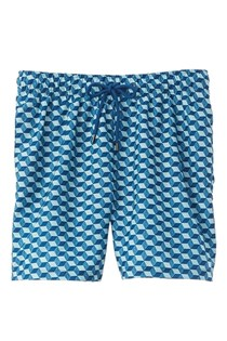 Men's Ike By Optical Cube Swim Trunk, Blue