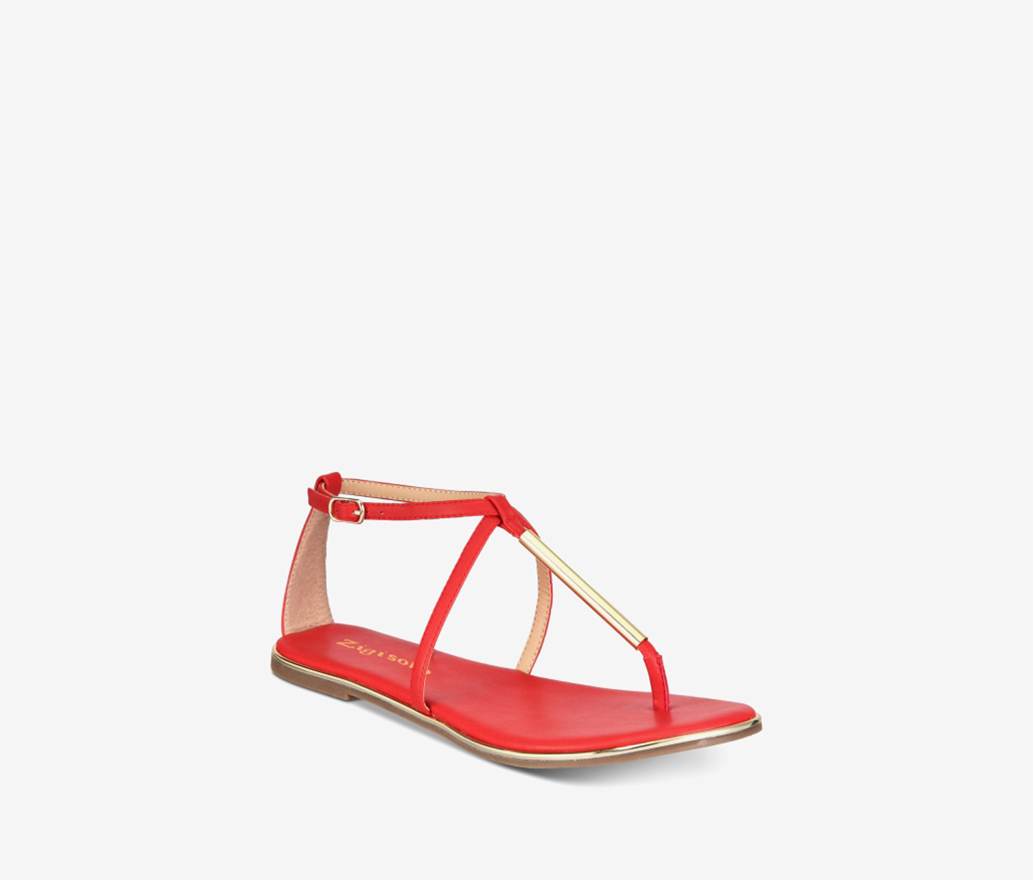 Women's Janette Split Toe Casual Ankle Strap Sandals, Red
