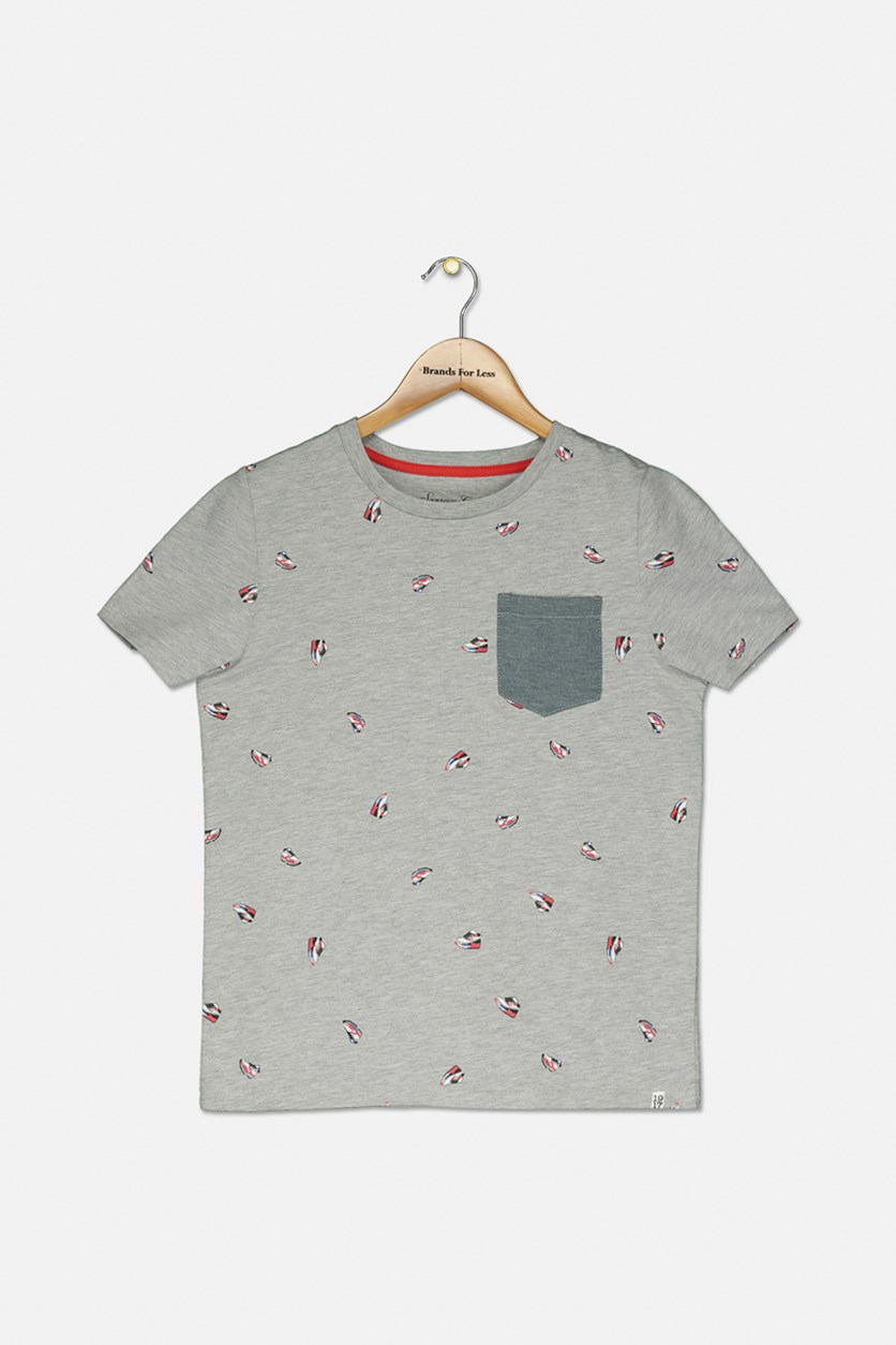 Little Boy's Graphic Tee, Gray