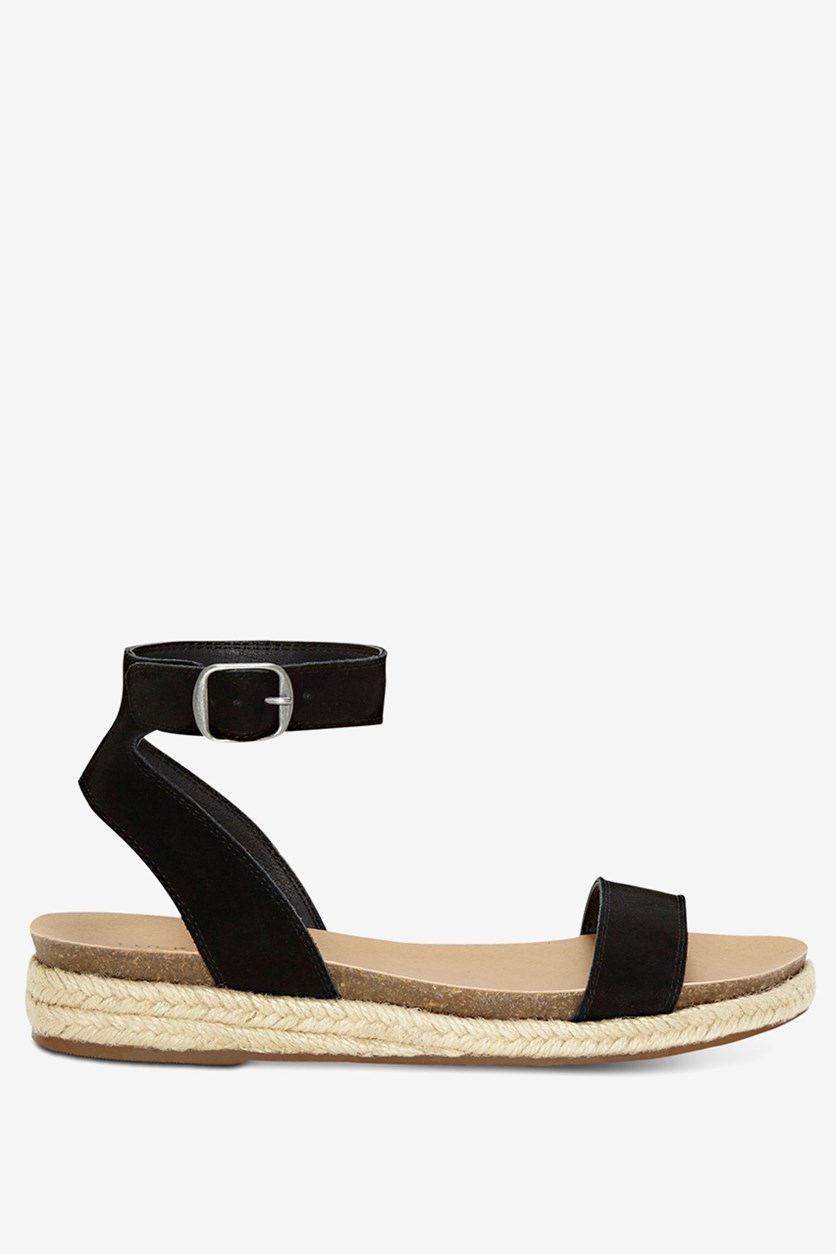 Women's Garston Espadrille Wedge Sandal, Black