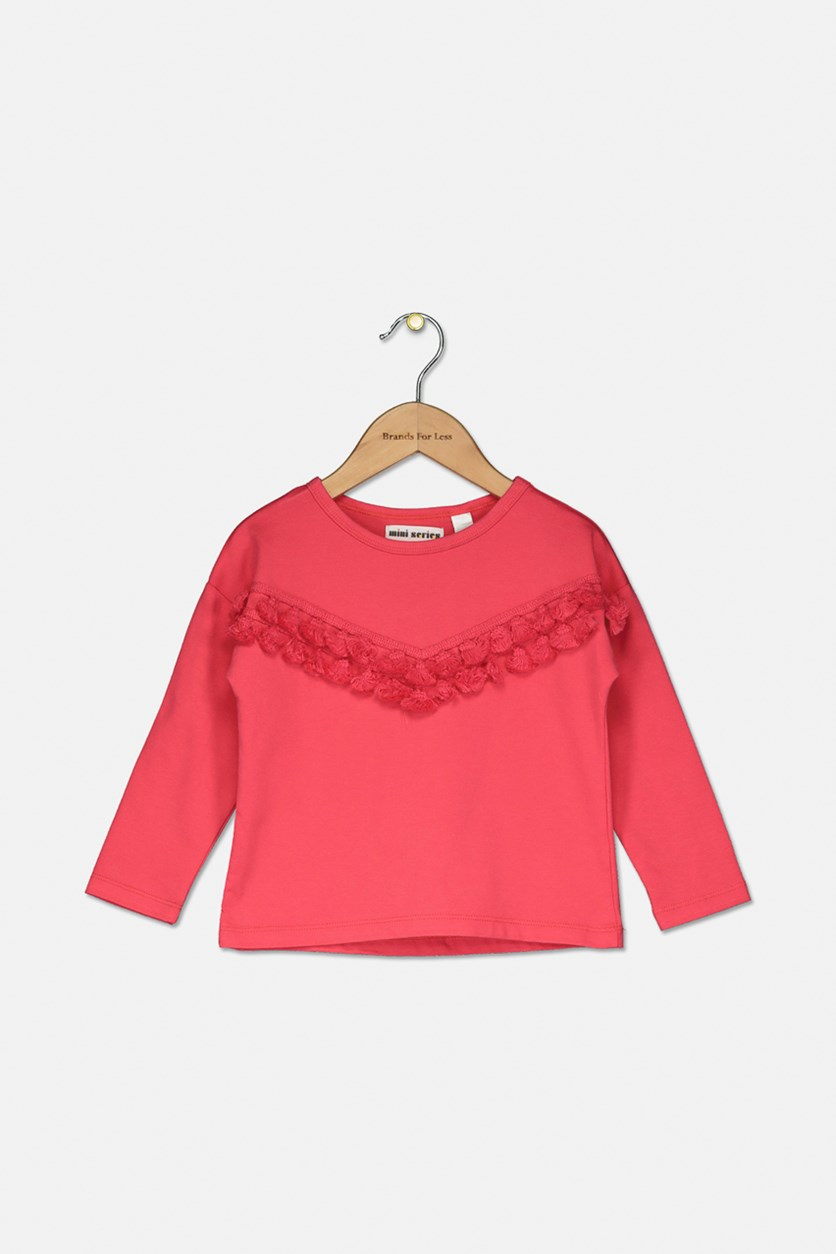 Toddler Girl's Longsleeves Top, Pink