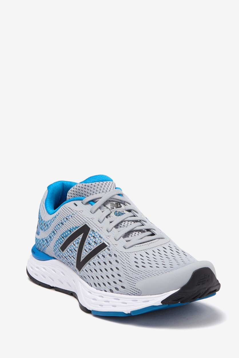 Men's Mesh Running Shoes, Gray/Blue
