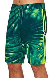 Men's Boardshorts, Green/Yellow