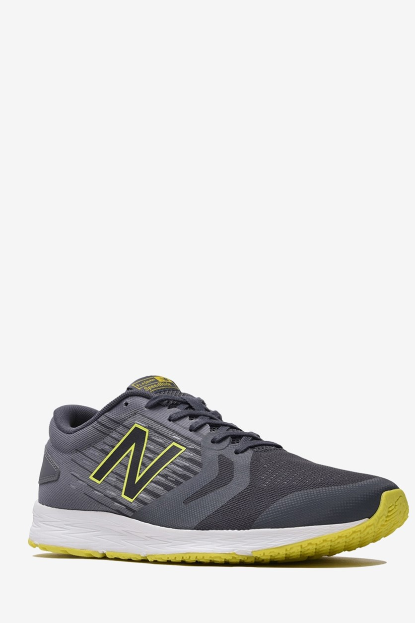Men's Running Shoes, Grey/Yellow Green