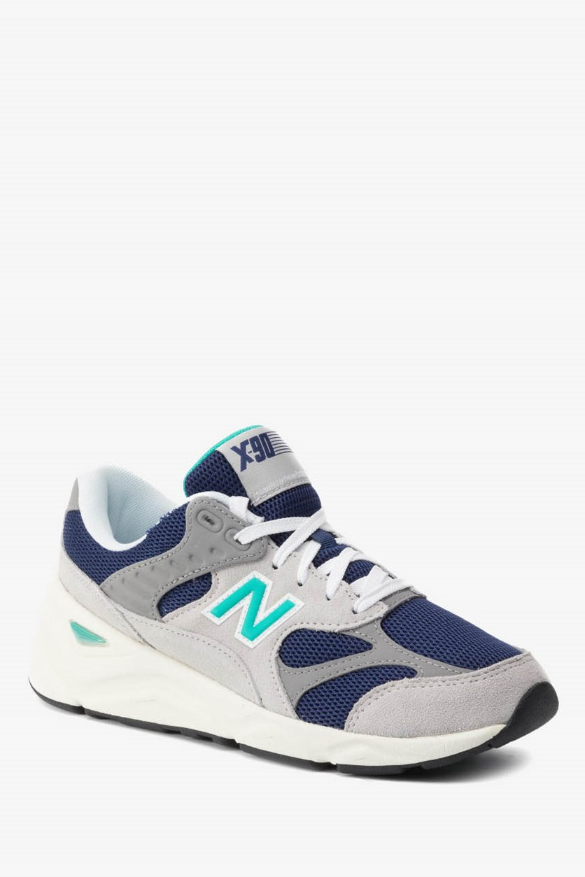 Men's Fashion Sneakers, Grey/Blue