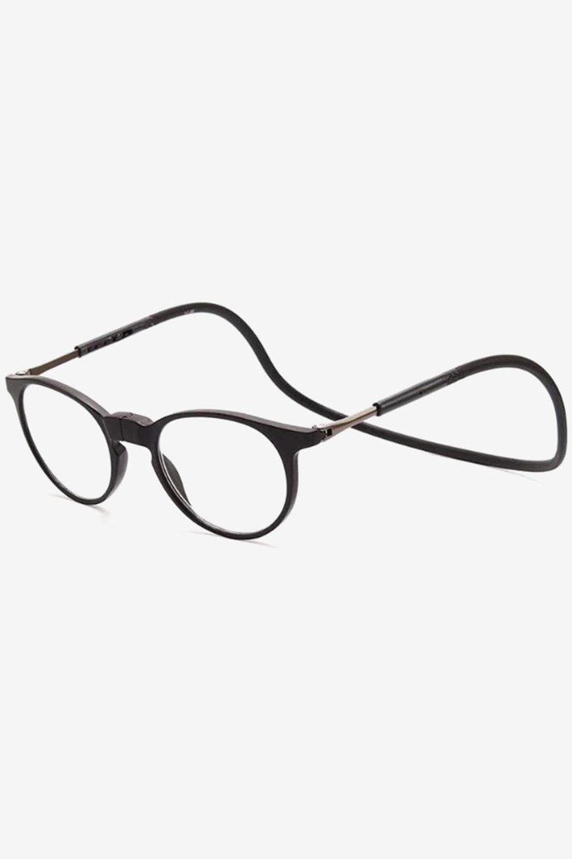 +1.50 D Unisex Round Rim Reading Glasses, Black