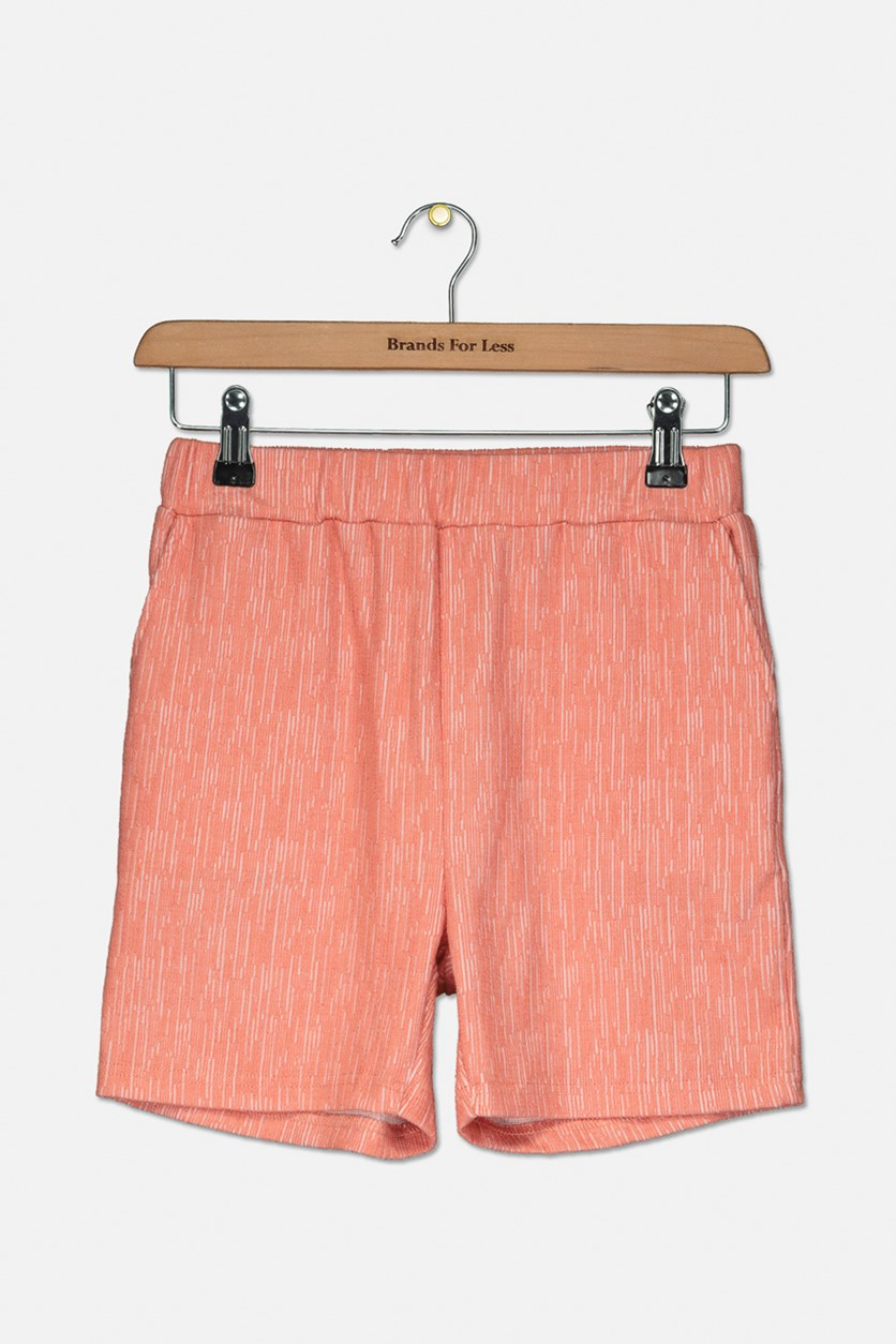 Girl's Textured Short, Coral