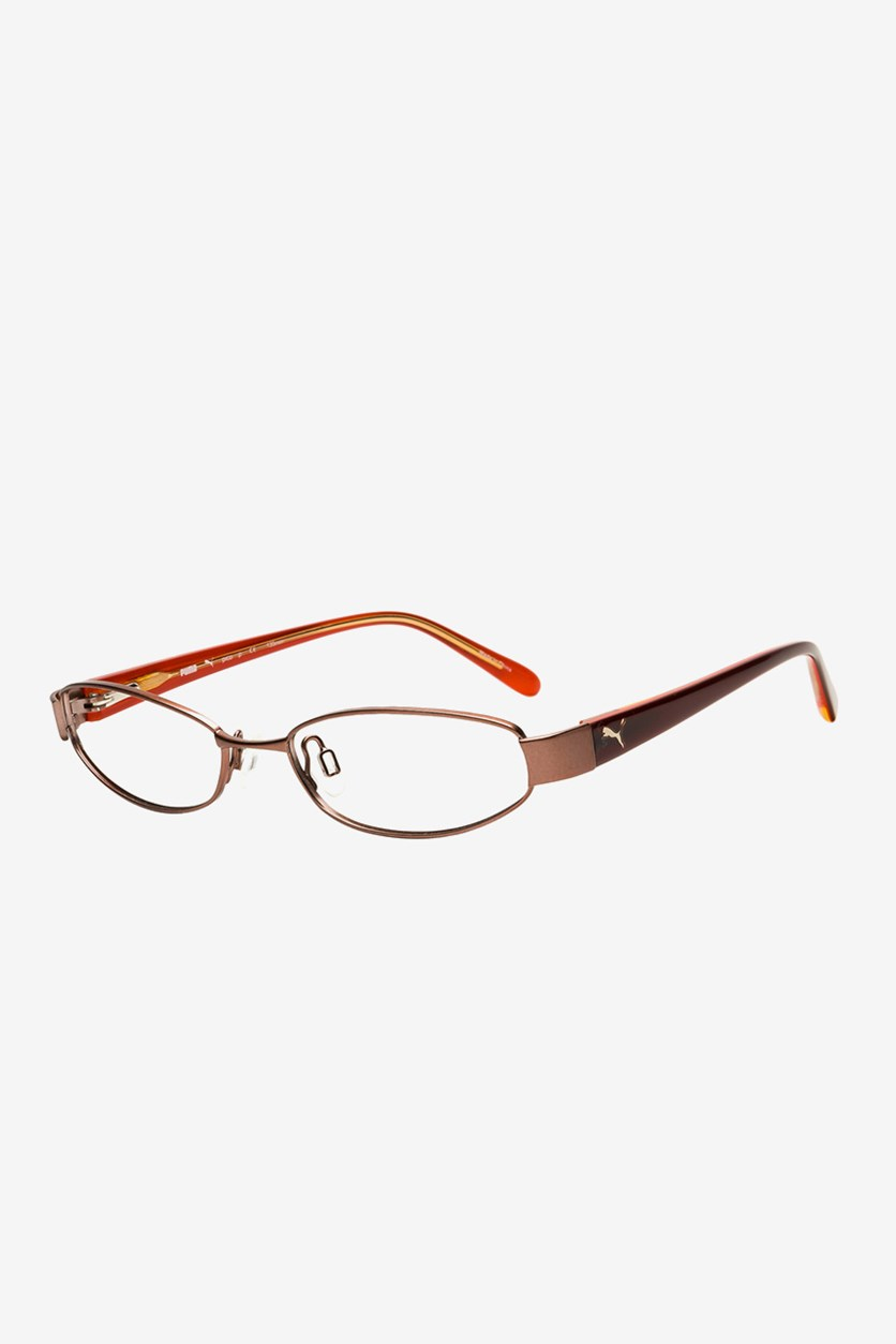 Kid's Girl PU15357 Full Rim Eyeglasses, Brown Combo