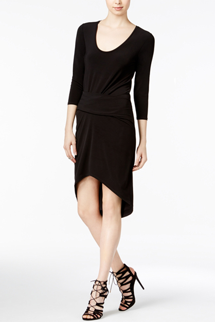 Women's Michelle High-Low Dress, Black