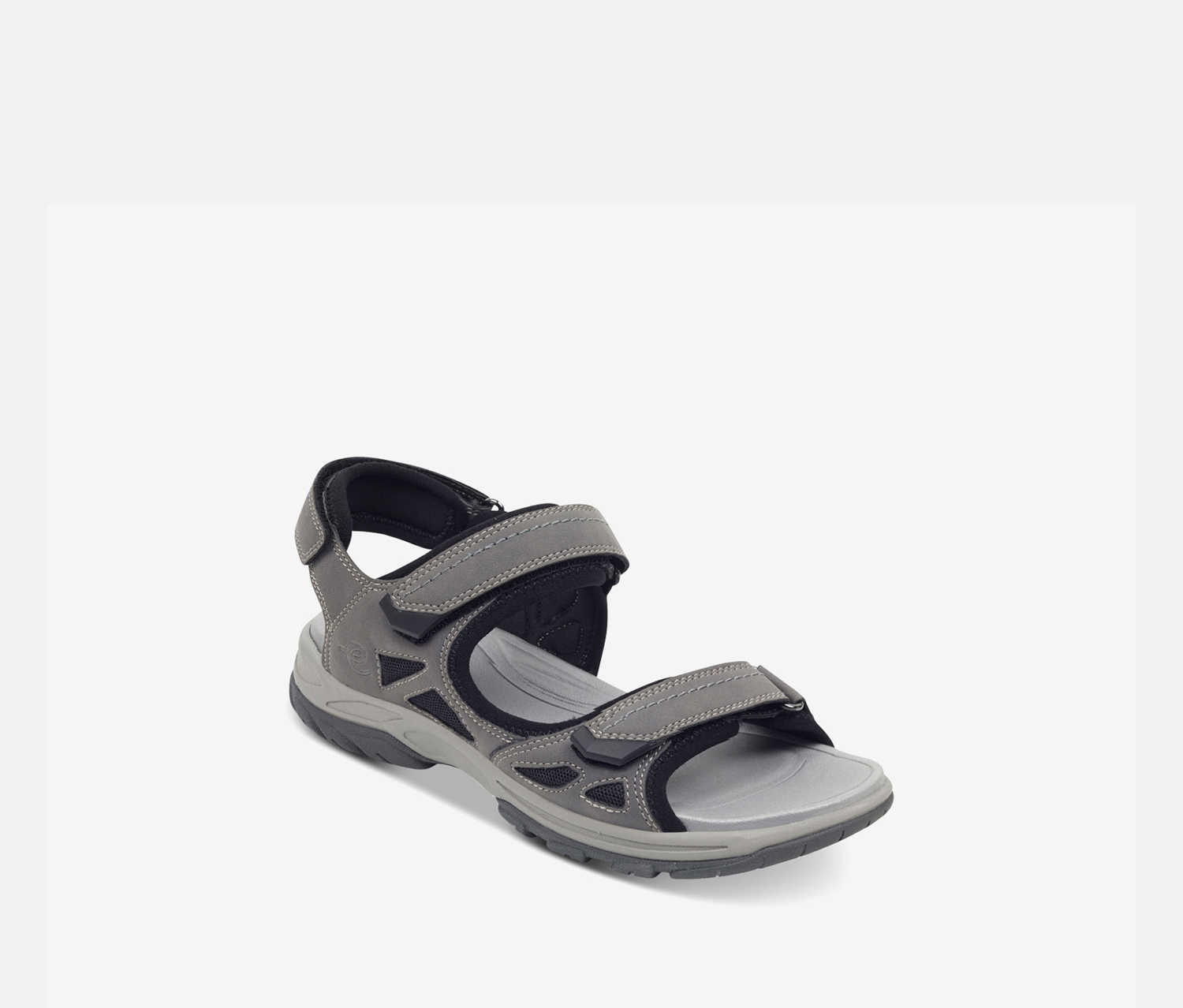 Women's Flat Sandals, Dark Grey
