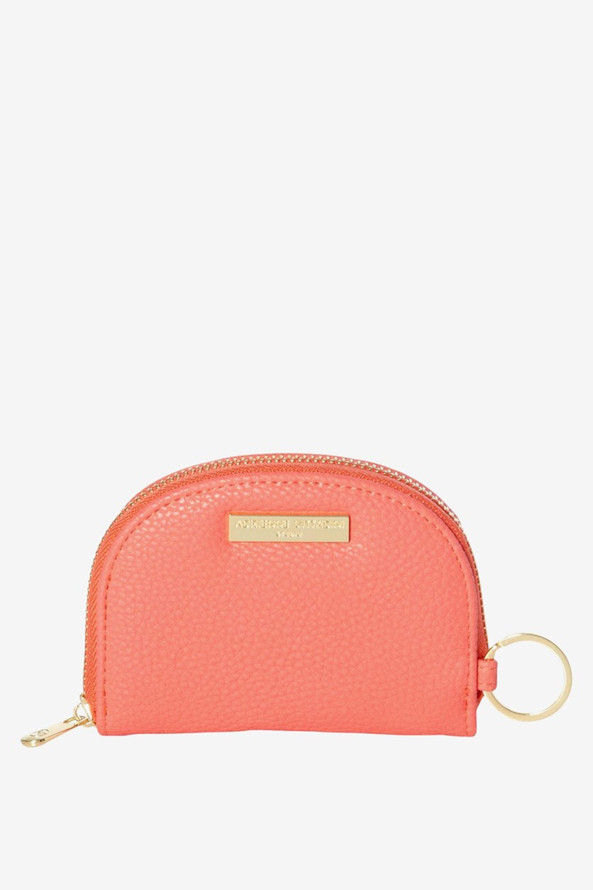 Women's Small Keychain Wallet, Coral