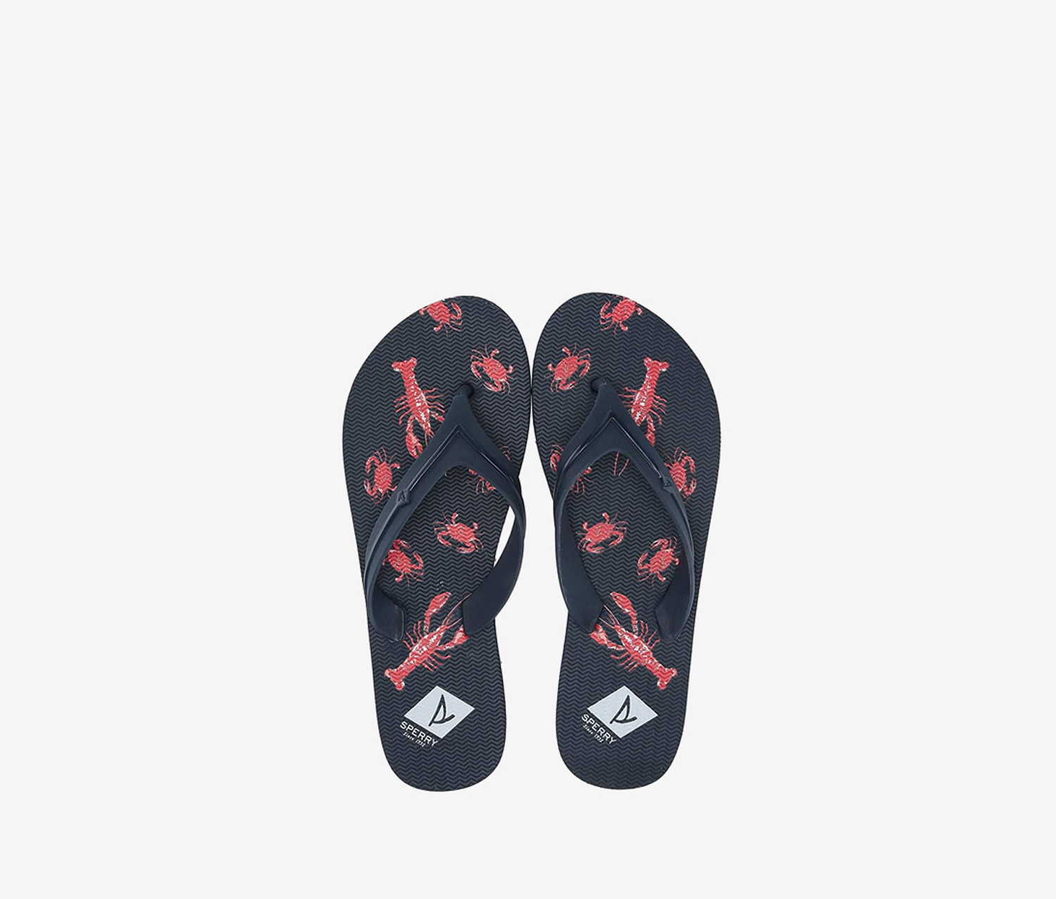 Women's Wharf Thong Lobster Slippers, Navy/Red