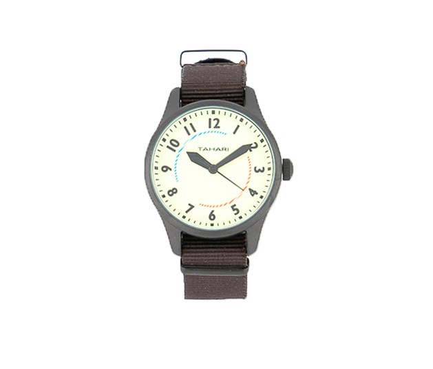 Mens Nato Strap Analog Watch, Brown/Light Mint