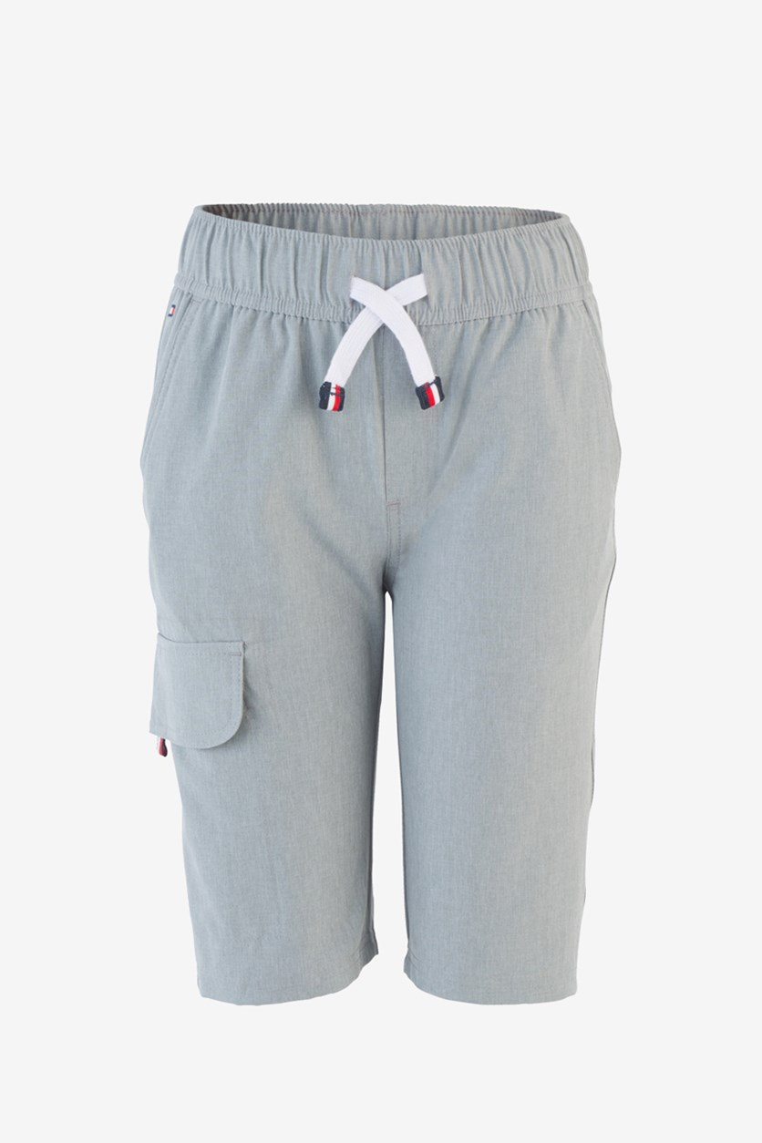 Toddlers Boys Pull-On Jogger Cargo Shorts, Gray