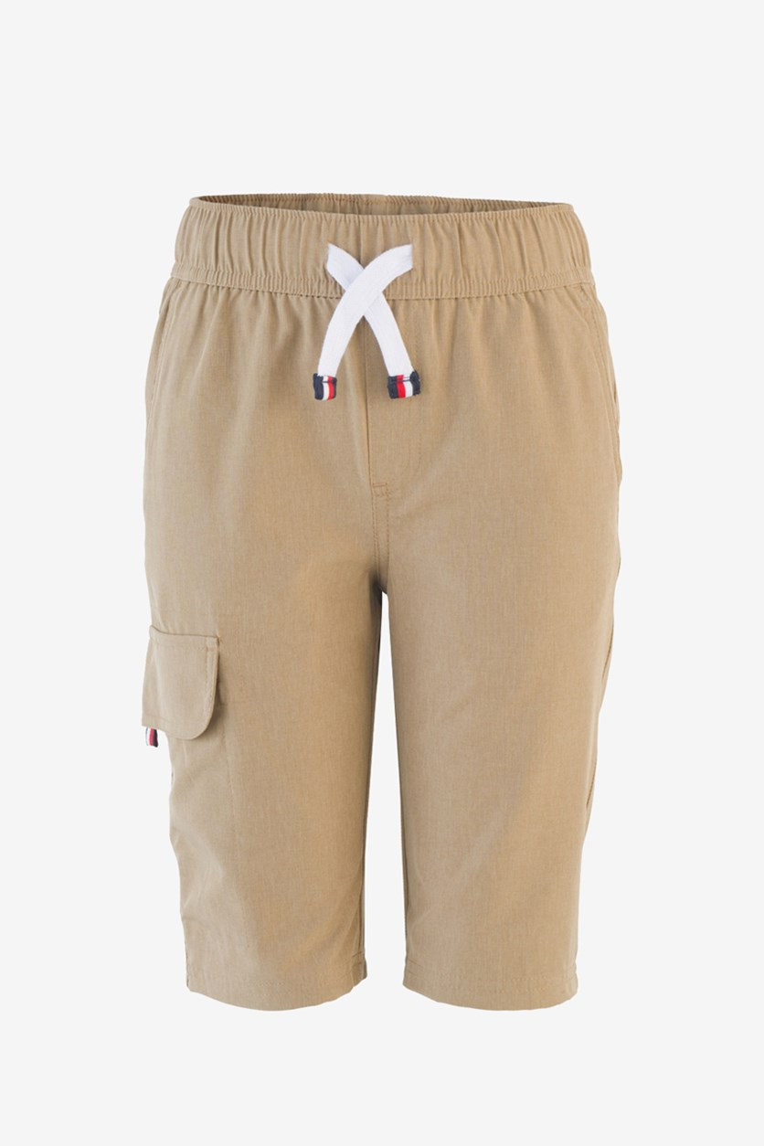 Toddler's Boys Pull-On Jogger Cargo Shorts, Tan