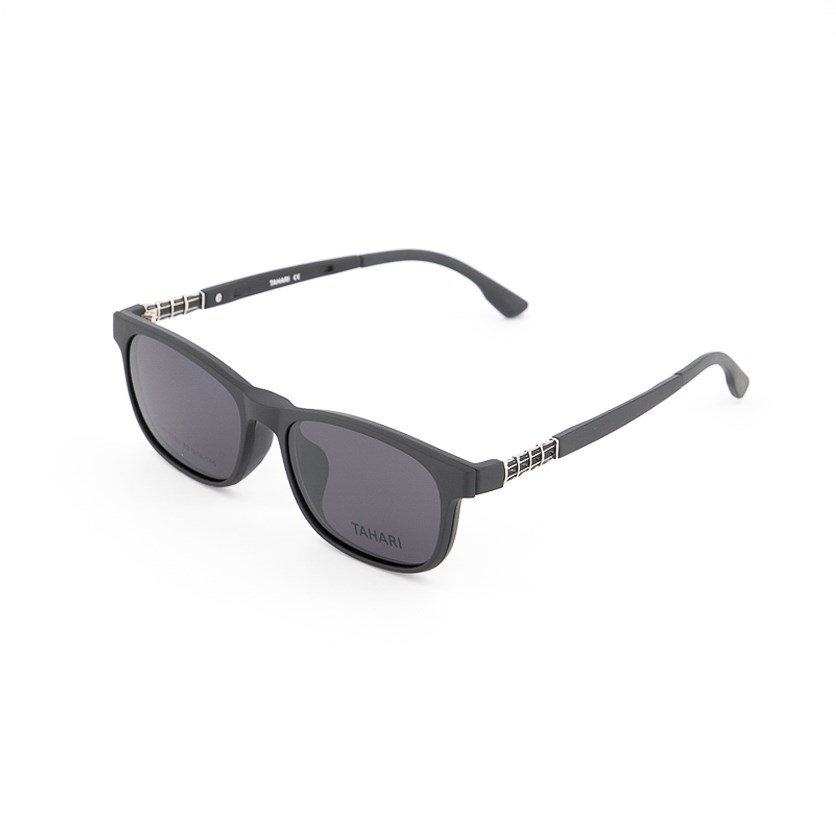 Men's Clip On Sunglasses, Black Combo