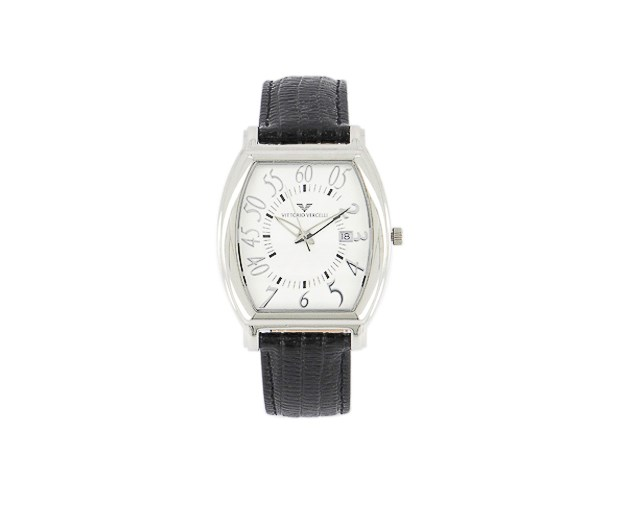 Men's Analog Watches, Silver/Silver/Black