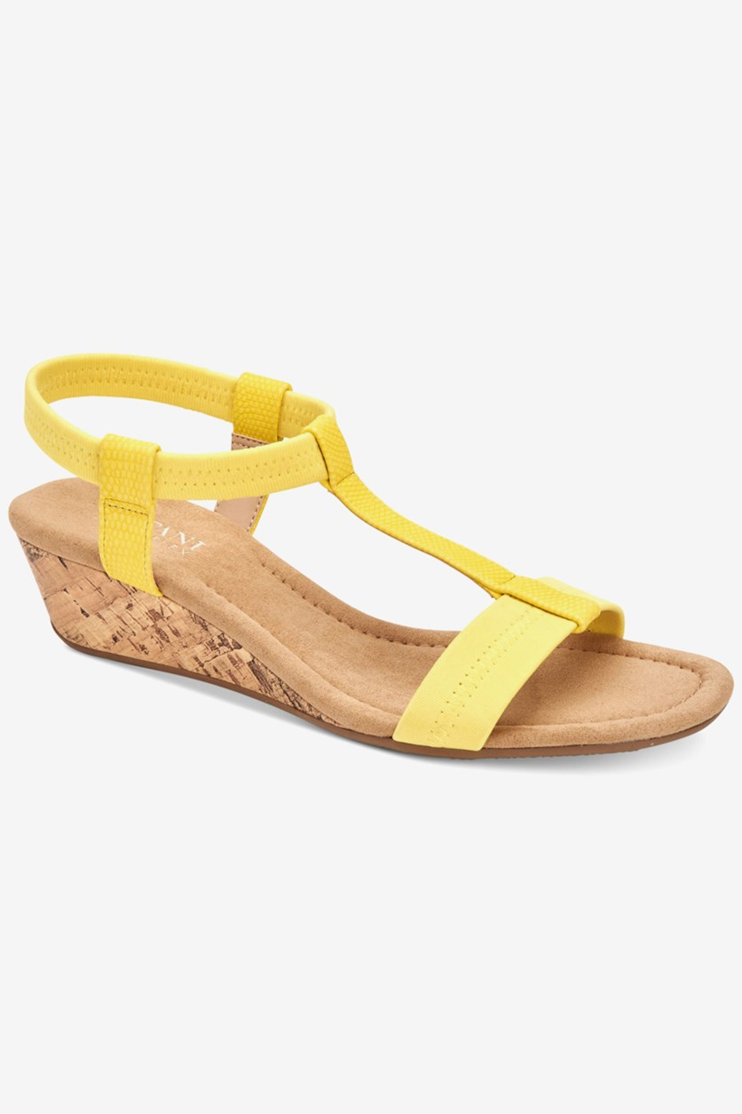 Women's Step 'N Flex Voyage Wedge Sandals, Yellow