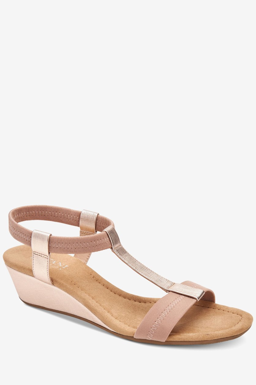 Womens Voyage Open Toe Sandal, Rose Gold