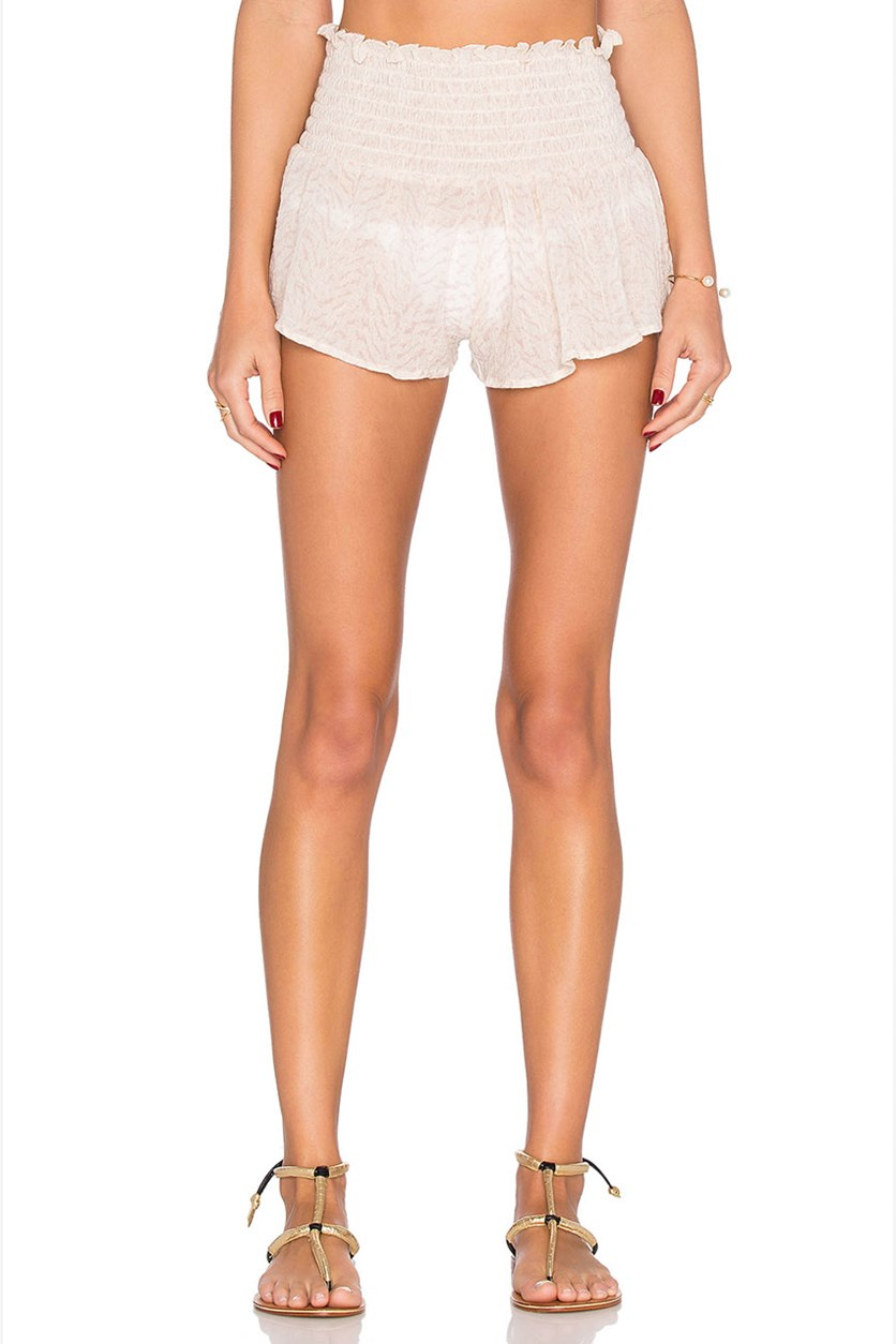 Women's Sand Waves Cover Up Meadow Short, Beige