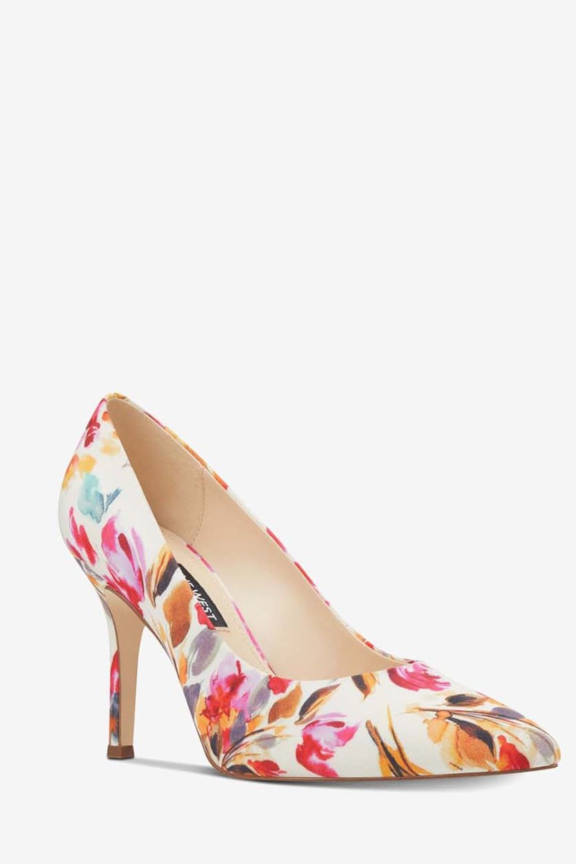 Women's Flax Pointed Toe Classic Pumps, Light Pink