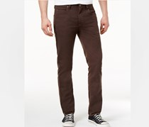 Men's Slim-Tapered Fit Crossover Pants, Brown
