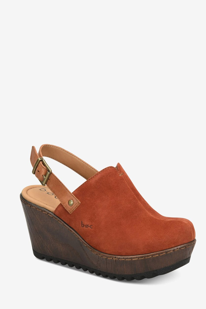 Women's May Wedge Sandals, Rust