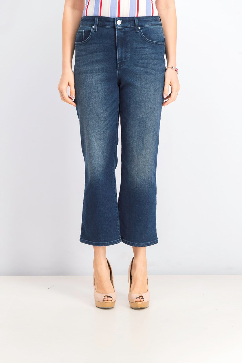 Women's High Rise Flare Jeans, Dark Blue