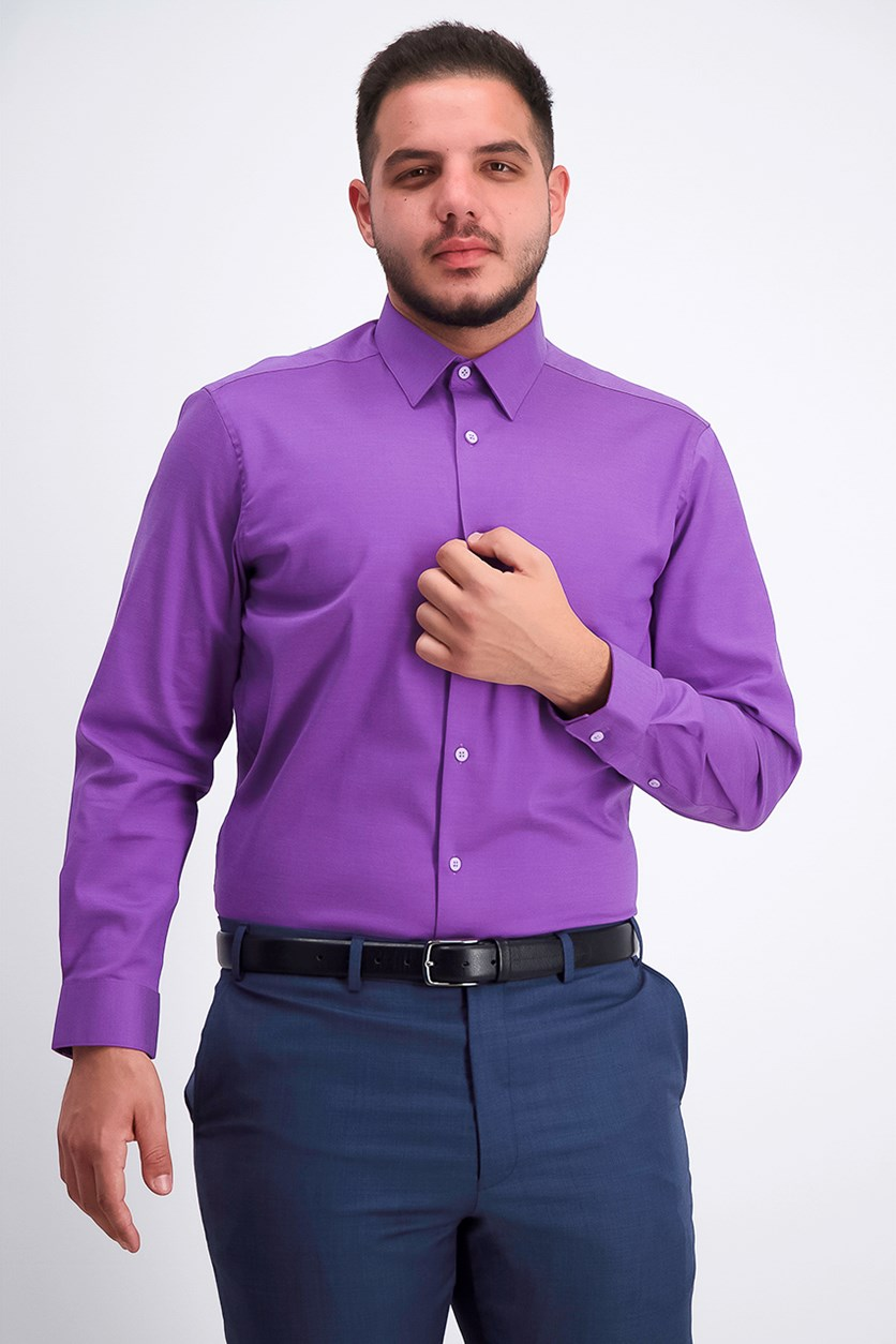 Men's Slim-Fit Dress Shirt, Purple Harmony