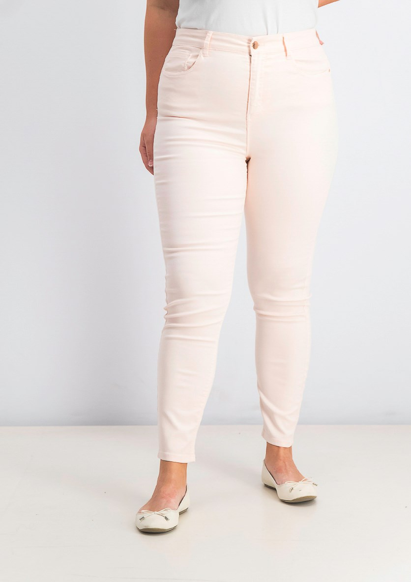 Women's High Rise Skinny Pants, Pink