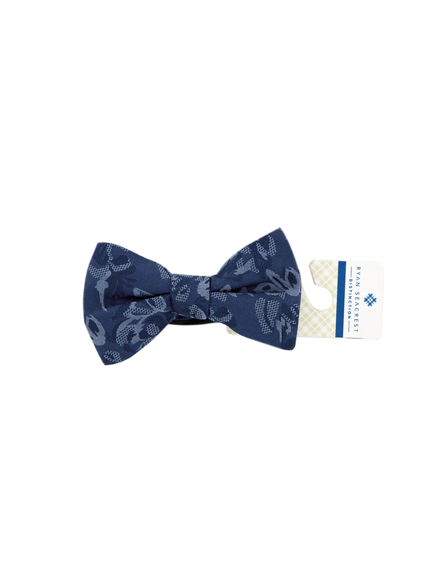 Mens Textured Bow Tie, Navy