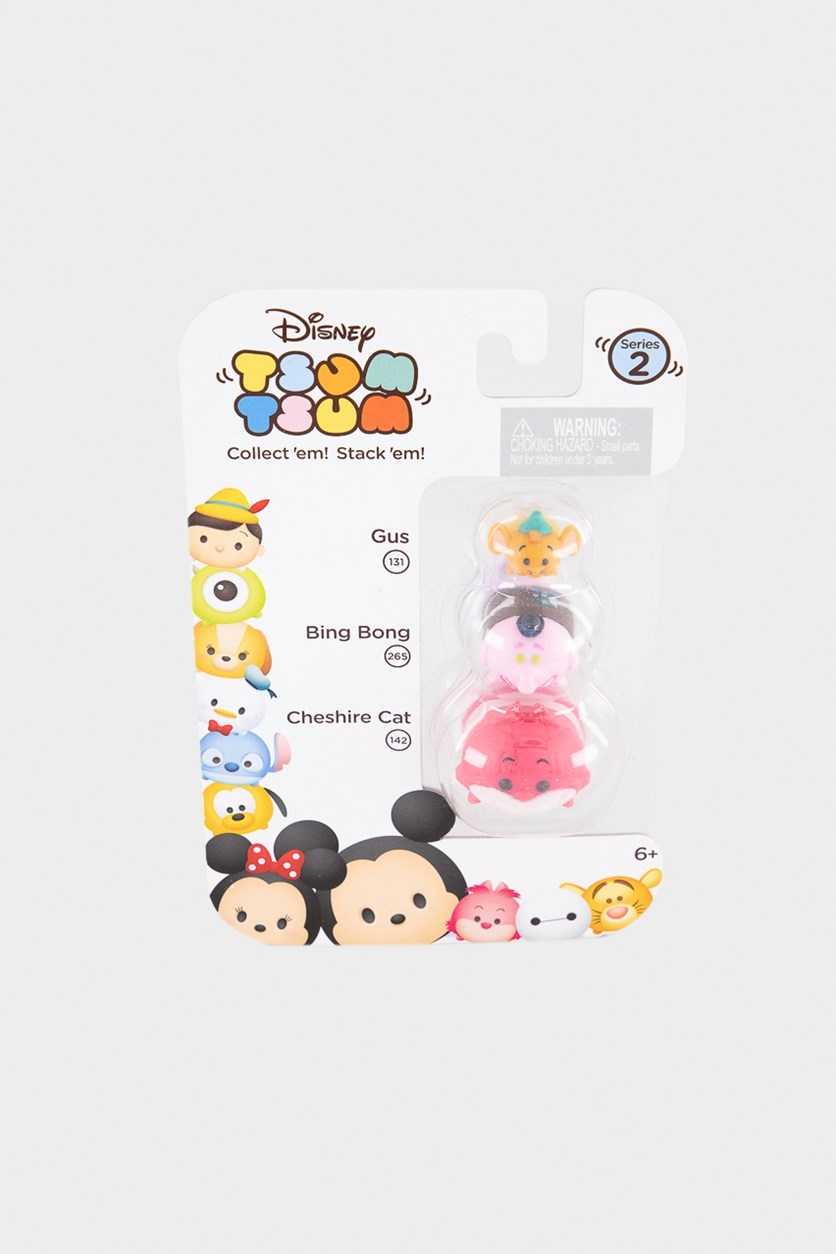 Tsum Tsum 3-Pack Figures, Pink/Dark Pink/Orange