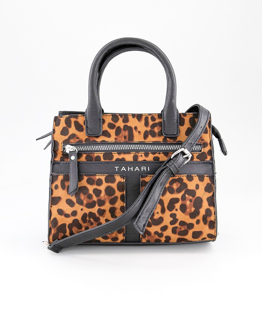 Women's Tattler Mini Satchel, Leopard/Black