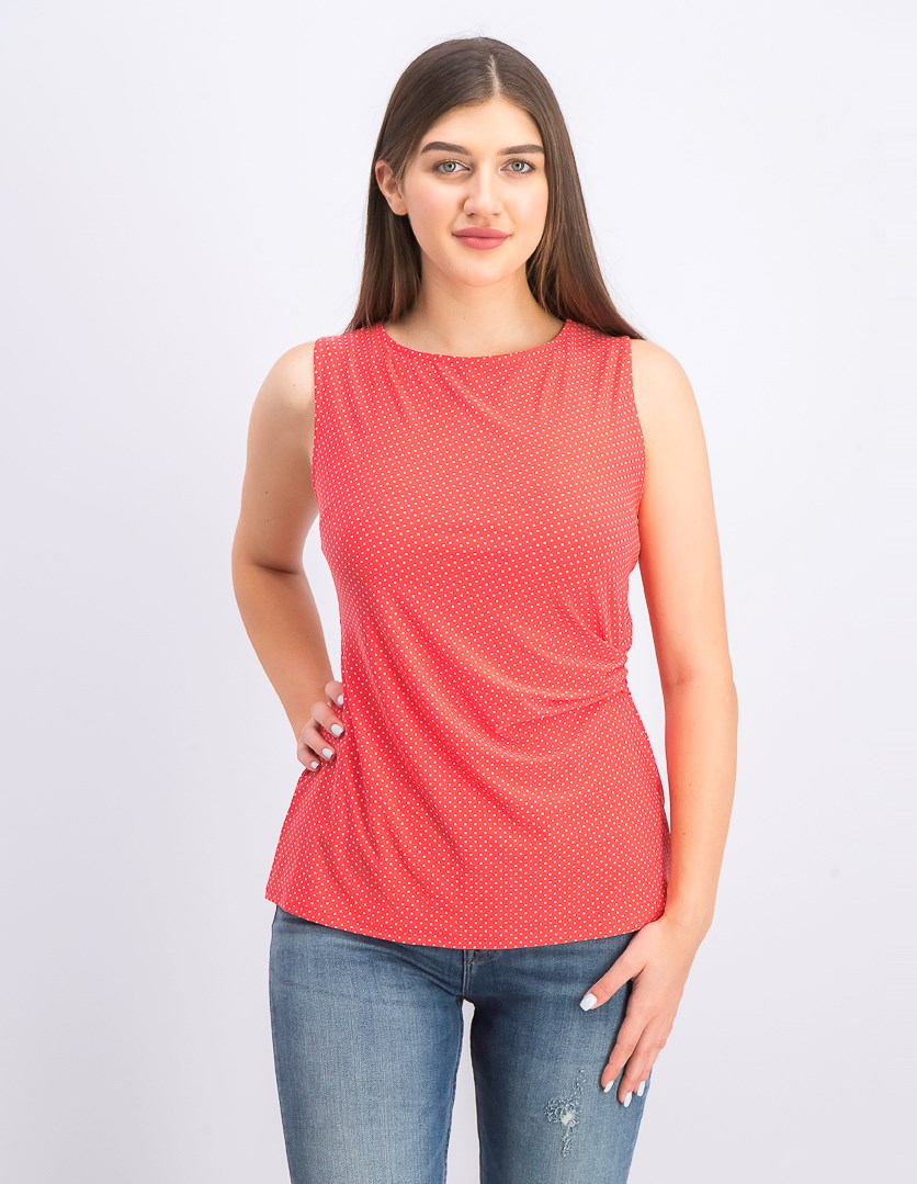 Womens Sleeveless Top, Coral