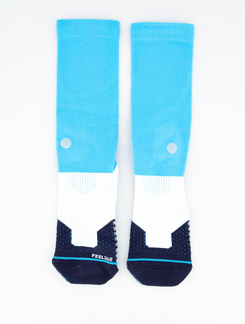 Men Crew Height Socks, Blue