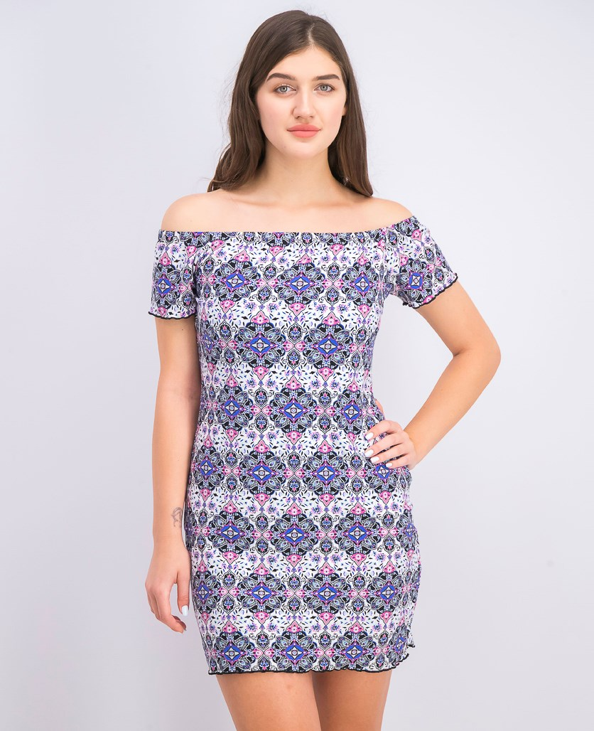 Women's Off-The-Shoulder Bodycon Dress, Bluegrass