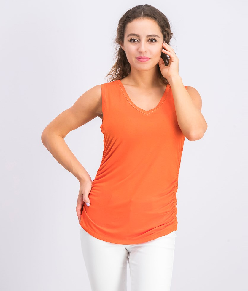 Women's Ruched Top, Wood Fired