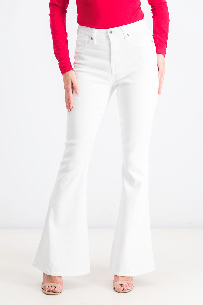 Women's Stunner Flare-Leg Jeans, Wicked White
