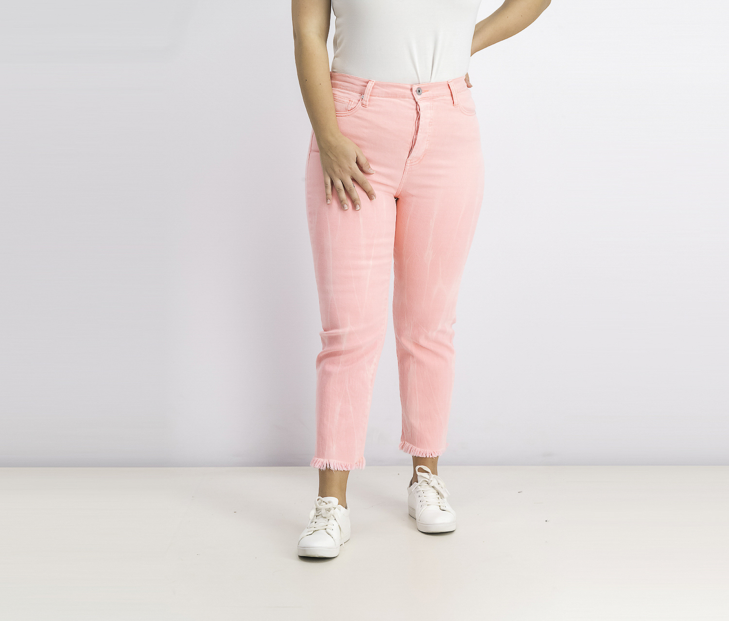 Womens Icon High-Rise Straight-Leg Jeans, Neon Pink Acid