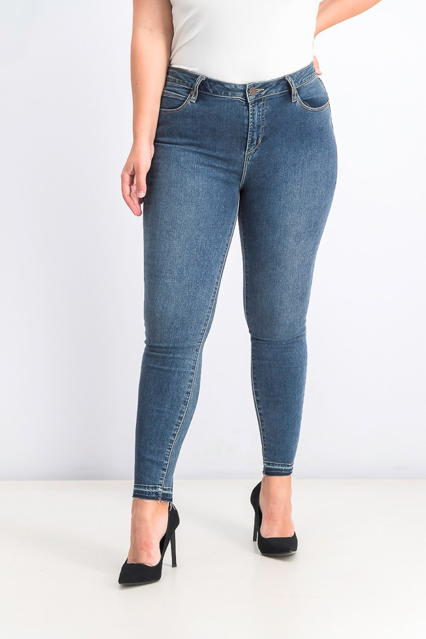 Woemens  Carly Released-Hem Skinny Jeans, Grenada