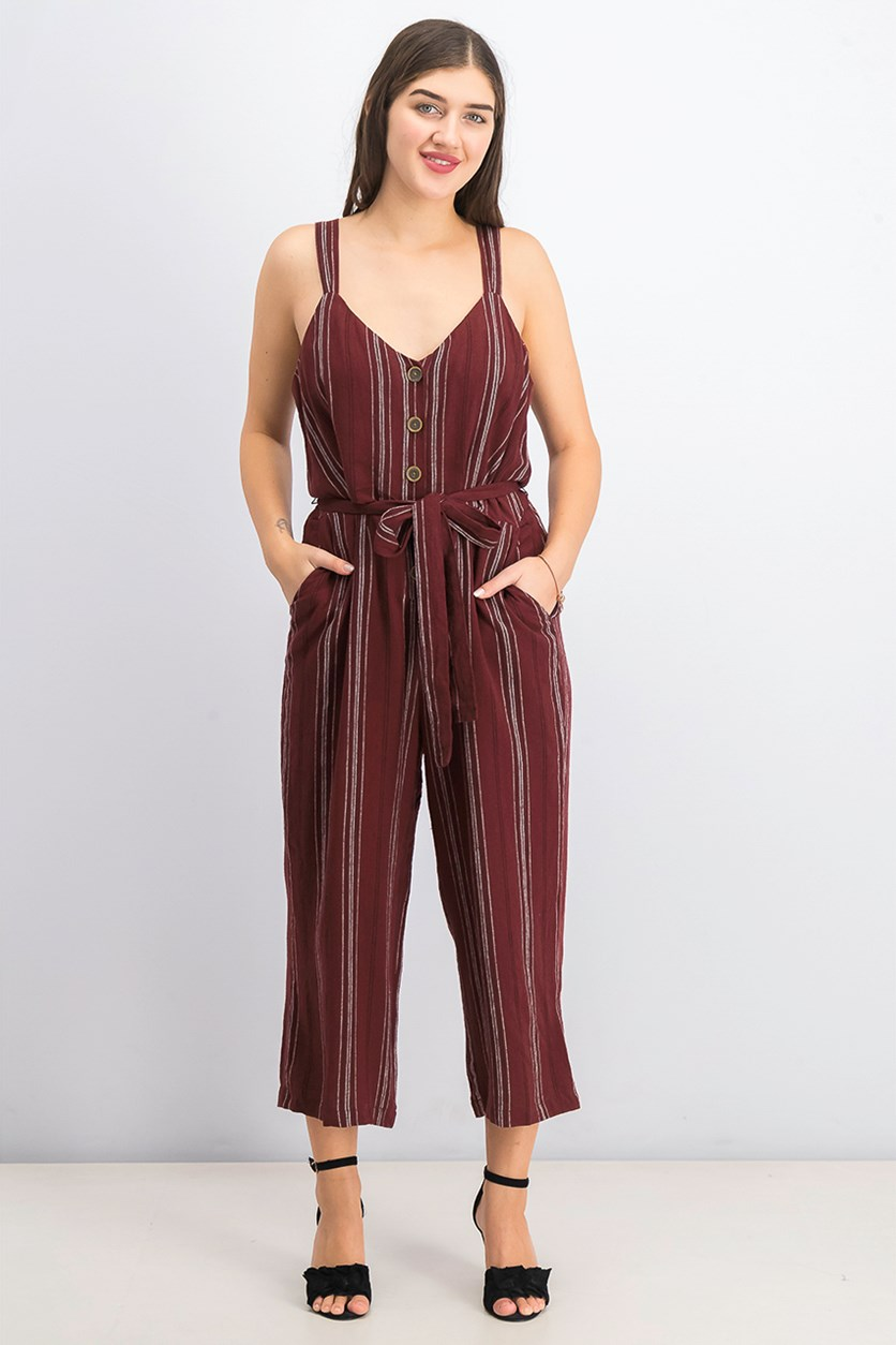 Women's Stripe Jumpsuit, Henna Stripe