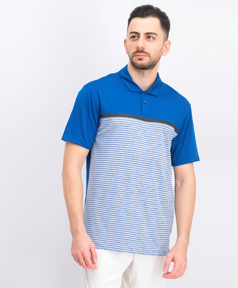 Men's Tiger Woods Vapor Stripe Block Polo, Blue Combo