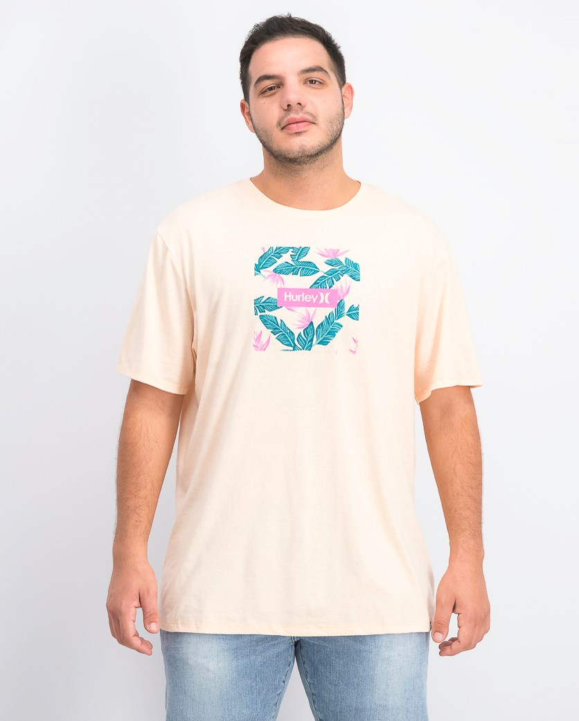 Men's Floral Logo Graphic T-Shirt, Crimson Tint Heather