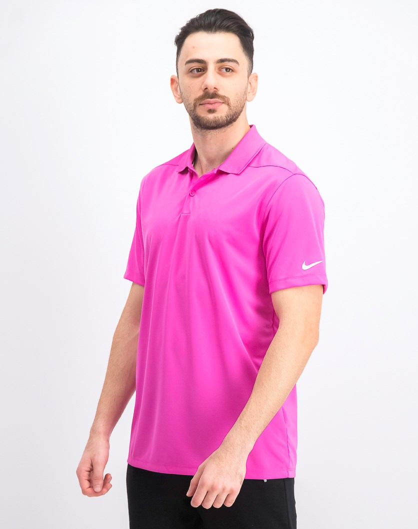 Men's Dry Victory Golf Polo, Dark Pink