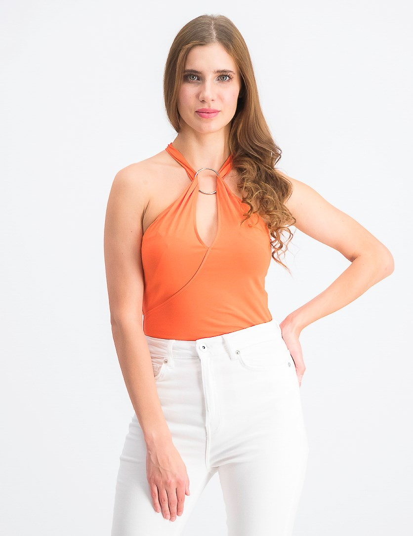 Women's Sleeveless Tawni Top, Sunkissed Coral