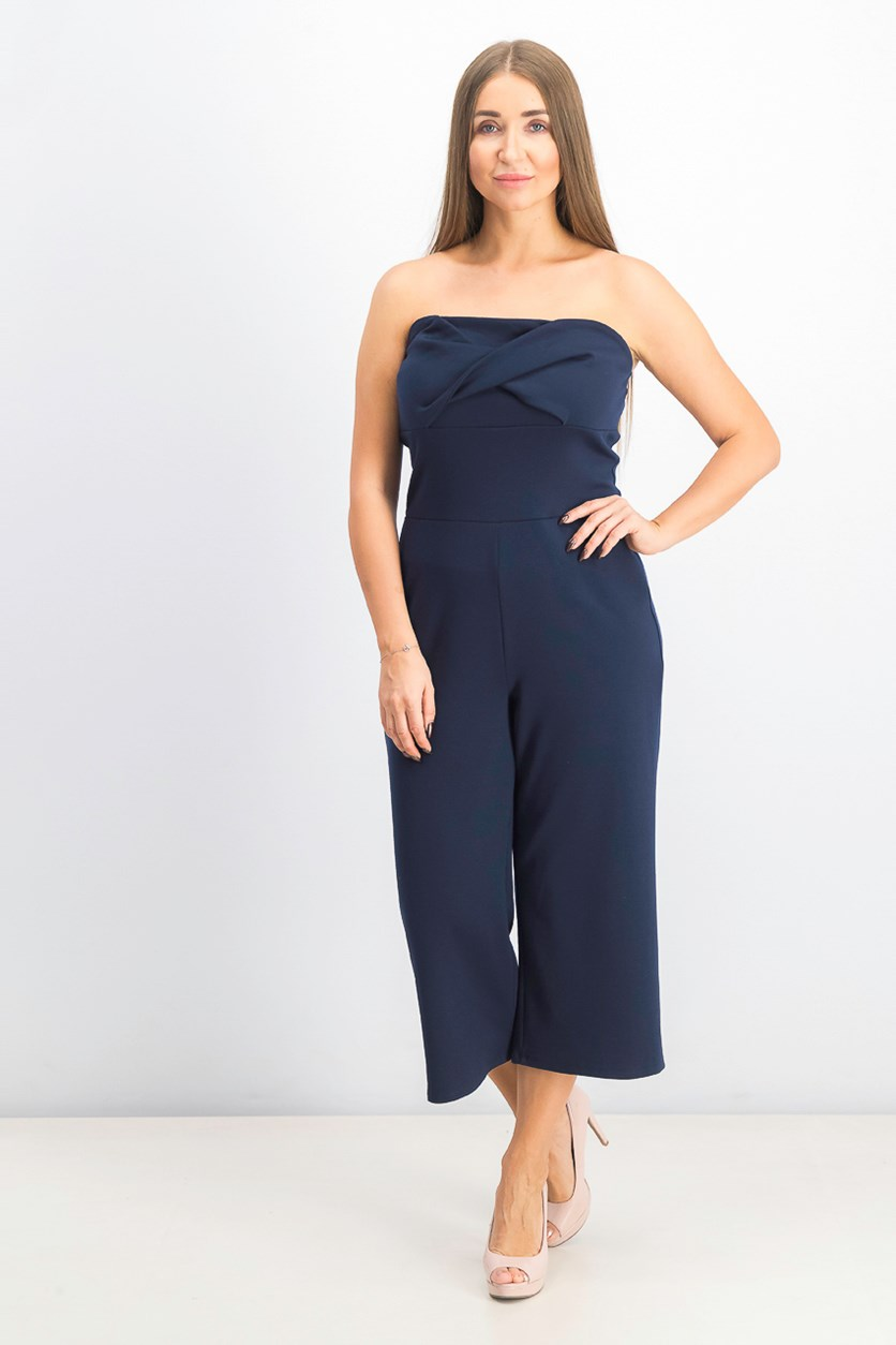 Women's Strapless Jumpsuit, Total Eclipse