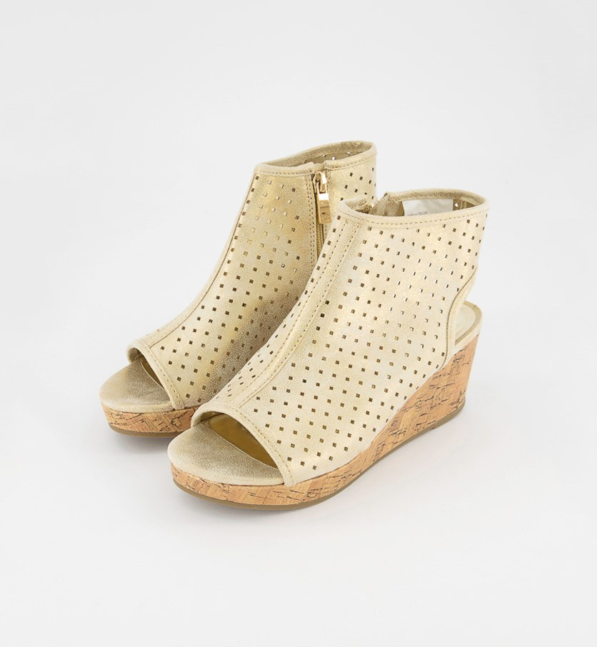 Kids Girl's Corrine Steller Wedge, Taupe Shimmer