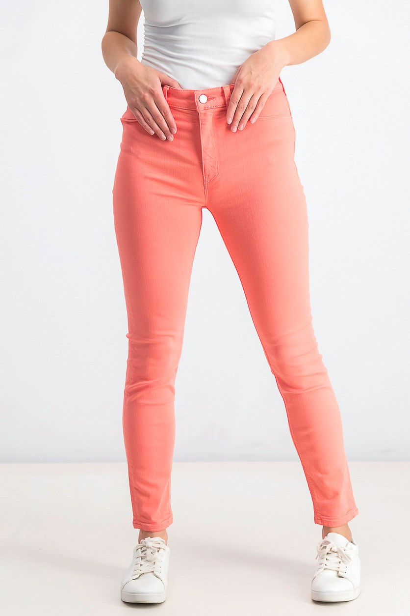 Women's High-Rise Super Skinny Ankle Cut Jeans, Flamingo